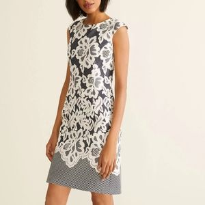 Laura Floral Lace Sleeveless Dress